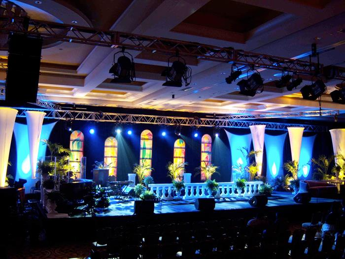Spandex Sail Ideas, Stretch Fabric Stage Backdrop Tips