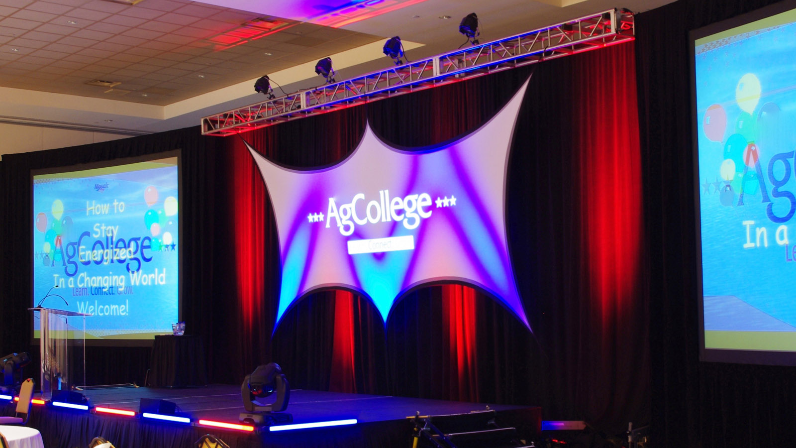 stretch fabric projection screen